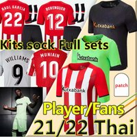 21/22 Bilbao Soccer Jerseys Athletic Fans Player Version Raul Garcia Berenguer Williams 2021 2022 Villalibre Muniain Martinez I.Martinez Football Shirt Men + Kids Kit