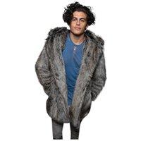 Мужское пальто Простая тенденция изысканная теплая подкладка мода зимнее тепло толстая куртка из искусственного меха кардигана Dropshipping D4