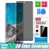 Gizlilik Temperli Cam Samsung Galaxy S21 Için 3D Anti Spy Ekran Koruyucu Ultra 5g S20 S10 S10E S9 S8 Artı Not 20 10 9 Perakende Paketi