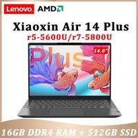 Ноутбуки Lenovo Xiaoxin Air 14 Plus 2021 AMD Ryzen 7 5800U 16GB RAM 512GB SSD Wi-Fi 6 14inch IPS экран компьютера Windows 11 ноутбук