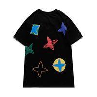 Mens camiseta 2021 Verão Mangas curtas Moda Impresso Tops Casual Homens Ao Ar Livre Tees Camiseta Roupas De Pescoço 21ss Tshirt Tamanho Asiático Qaq