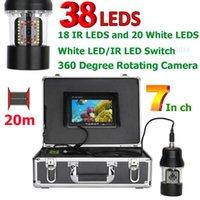 Cameras 7 Inch 20m 50m 100m Underwater Fishing Video Camera Fish Finder IP68 Waterproof 38 LEDs 360 Degree Rotating