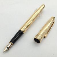 القرطاسية فريدة من نوعها ذهبية (4810) نافورة القلم M NIB M العلامة التجارية الأقلام الحبر للكتابة مع الرقم التسلسلي