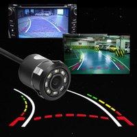 Car Rear View Cameras& Parking Sensors VODOOL Dynamic Trajectory Track Reverse Camera IP68 Waterproof 8LED IR Night Vision Backup Rearview