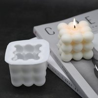 1 PCs Square Cube Candle Mould Soy Wax Essential Oil Aromatherapy Candle DIY Cloud Shape Candle Material Wax 3D Silicone Mold