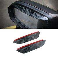 For Volkswagen Sharan T-ROC Teramont Atlas Car Stickers Side Rear View Mirror Rain Visor ABS Carbon Eyebrow Sunshade Guard Cover Shield