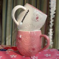 12 ob starbucks Кубок роскошные чашки пара керамические кружки с ложкой и горшкой утренняя кружка молочный кофе чай завтрак валентинок день