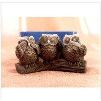 Molde de silicona de tres búhos para jabón y velas de makingAnal MoldeMold Moldes de artesanía DIY Moldes de artesanía de silicona Prezcla ecológica 001 210225