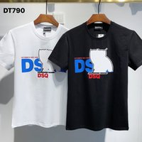 DSQ PHANTOM TURTLE SS Mens Designer T shirt Italian fashion Tshirts Summer DSQ Pattern T-shirt Male High Quality 100% Cotton Tops 60129