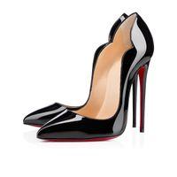 مع مربع المرأة الأحذية عالية الكعب الأحمر القيعان الجلود أشار أصابع القدم مضخات في الهواء الطلق اللباس أحذية حجم 35-43 الجودة