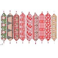 Boże Narodzenie Tkaniny Biegacz 180 * 35 cm Wesołych Świąt Xmas Kuchnia Stoły Dekoracje DWD11246