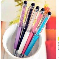 Moda yaratıcı kristal elmas tükenmez kalem kalem kırtasiye tükenmez kalem 20 renk yağlı siyah dolum