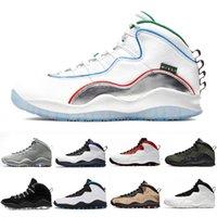 Moda Marca Alas Jumpman 10 Mens Shoes de baloncesto Westbrook White Gray Huarache Light Seattle Red 10s Men Trainers Deportes Sneakers 7-13