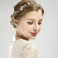 Hair Clips & Barrettes Vintage Bride Wedding Headdress Flower Leaves Shape Headband Handmade Gold Color Hairband Women Headpeice Accessories