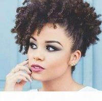 Doğal Brezilyalı Remy Kinky Kıvırcık Midilli Kuyruk Saç Parçası İyi İnceleme Fashions Doğal Saç Puf Kadın Saç Uzatma 140g