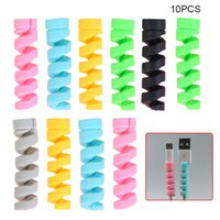 1000Pcs Spiral Cable Protector Saver Cover Anti-fracture For Earphone Wire Cables Cord Adorable Protective Sleeve Apple iPhone USB Charger Cable Phones