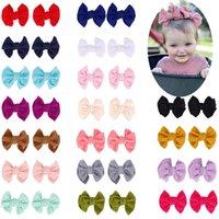 Hot Europe Baby Girls Big Bow Hair Clip Kids Bowknot Barrette 2pcs Set Barrettes Girl Children Hair Accessory 18 Colors