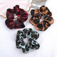 Moda mujer accesorios para niñas clips de pelo anillo de pelo patrón de leopardo cabeza de cabeza cabeza de serpiente patrón elástico banda grande anillo tocado G22405