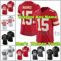 2021 Chiefs American Football Jerseys Tyrann 32 Mathieu Jersey Patrick 15 Mahomes Travis 87 Kelce Tyreek 10 Hill Orlando 57 Brown Jr. Cucito personalizzato Traspirante