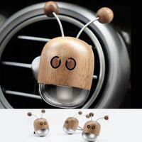 Interior Decorations Walnut Robot Car Air Vent Perfume Solid Fragrance Clip Little Bee Freshener Auto Scent Decoration Accessor