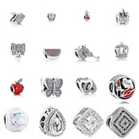 100% 925 Sterling Silver 1: 1 Fascino Anguria Rosso Green Royal Corona Sparkling Butterfly Lucchetto Swan Clear CZ CZ cuore CZ Amore 400 G2