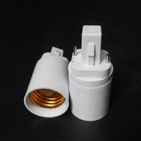 ABS LED G24 إلى E27 محول المقبس الهالوجين CFL ضوء مصباح قاعدة محول e27 إلى g24 لمبة حامل محول 2pin 85-265V
