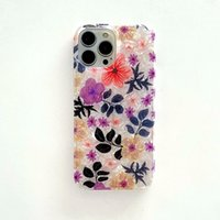 2021 New Art IMD Shell Floral Print Mobile Phone Cases For iPhone 13 12 11 Pro Max TPU Dirt-resistant Water Resistant Shockproof Gloss Flower Back Cover