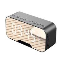 Tragbare LED-Spiegel-Digital-Bluetooth-Lautsprecher Wecker MP3 FM-Radio
