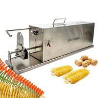 2021 Factory direct acier inoxydable torsadé pomme de terre slicer fruit fruit frais cutter français frire tornade chips machine