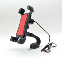 Cell Phone Mounts & Holders Motorcycle Holder With USB Charger Motor For Motorbike Smartphone Support Universal Mobile