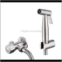 Aseo de acero inoxidable Hand Hand Hand Handet Faucet Sprayer Set Bidet Set Spray With Spray para Baños Ducha Cabeza 200925 9Y3DG KFA7R