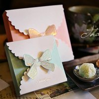 Gift Wrap Bronzing Bow Box Wedding Chocolate Packaging Boxes Party Present Flower Bags Kraft Paper Birthday Decoration