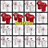 Reds Baseball Jerseys Mens Cincinnati 14 Pete Rose 19 Joey Votto 5 조니 벤치 58 Luis Castillo Jesse Winker 11 Barry Larkin Custom