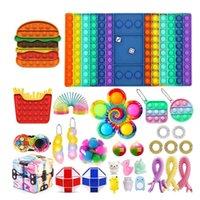 Fiet Toys Kit Completo Fiets Anti Strs 장난감 세트 성인 어린이 푸시 거품 인 Figent Sensory Squishy 릴리프 방지 팩 선물