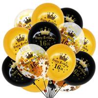 16 18 30 40 50 60 Conjunto de globo de cumpleaños Confeti globos Feliz cumpleaños Ballon Kids Baby Shower Decoración de fiesta 0008