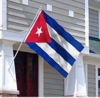 أعلام كوبا كوبية العلم الوطني 3'x5'ft 100D البوليستر جودة عالية مع اثنين من الحلقات النحاسية OWF10787