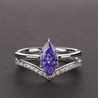 Hbp moda shipai jóias s925 prata cavalo olho artificial azul creative hand anel 1.7ct