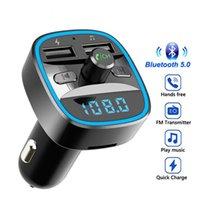 سيارة مشغل MP3 بلوتوث اللاسلكية يدوي كيت T25 5.0 استقبال fm الارسال المغير المزدوج usb الهاتف المحمول شاحن سريع يو القرص tf بطاقة الملحقات الداخلية