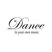 16.5 см * 7.6см Танцул к вашей собственной музыке Виниловая машина для укладки автомобилей Смешные наклейки автомобиля наклейки C15-2439