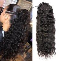 Peluquería de pelo brasileño Pasquillas de Panalia Clip en voluminoso largo de alto volumen ondulado rizado ondulado 100% 160 g de cordón Pony cola Peluques Extensión para mujeres negras