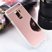 For Iphone 11 Pro XR XS Max Samsung Note 10 Plus S10 S9 Mirror Cases Back Shock-Absorption TPU Bumper Protective Case