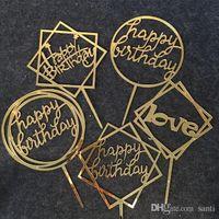 С днем рождения любовь торт топпер акриловый день рождения партии украшения