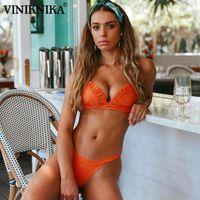 Traje de baño para mujer Viniknika Bikinis Mujeres Push-Up Sujetador Playa Bikini Set Swimsuit Biquini Woman 2021 Ropa de playa