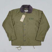 Bob Dong Repro 40s I Navy N-1 Deck Jacket Back Paint Inverno Uniforme USN Men's Coat 44 0WCC