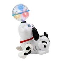 أطفال الموسيقى ضوء اللعب الإلكترونية المشي الرقص الذكية أضواء التفاعلية تلعب الحيوانات الأليفة مع أطفال هدية عيد الميلاد الأطفال الكلب روبوت Q2B8