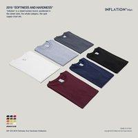 На инфляционной упаковке Продажа плюс Размер моды Мужские футболки 100% хлопок O-образным вырезом Мужская футболка 25 сплошные цвета футболка 035S16 210317