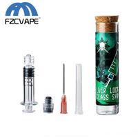 Kit de jeringa de vidrio LTQVAPOR 1.0ml 2.25ml Luer Llock inyector de vapor con punta de aguja para llenado de aceite grueso