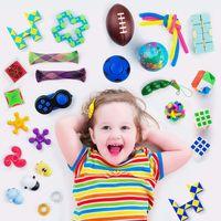 DHL Frete Sensory Toys Set, alivia o estresse e ansiedade Fidget Toy para crianças adultos, sortimento de brinquedos especiais para favores de festa de aniversário