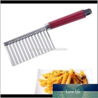 French Fry Cutters Manual Food Processors Kitchen, Dining Bar Home & Garden Drop Delivery Potato Wavy Edged Knife Stainless Steel Kitche