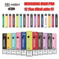 Matsking High Pro MK Одноразовое устройство Vape Pen 1000Уфуфты 600 мАч Батарея 3.5 мл Предварительно заполненные картриджи Стручки 16+ Цветов Комплект Новейшие Пары